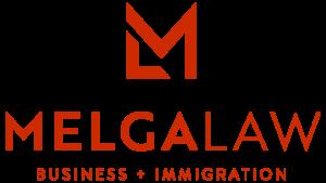Melga Law Logo - Red